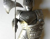 Vintage Knight Armor Statue // Metal // TIMELESS  Medieval Sculpture // 1960s