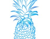 Blue Pineapple Giclee