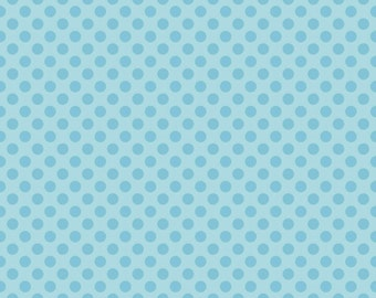 Zoe Pearn for Riley Blake Designs - My Sunshine - Sunshine Dots in Blue  - Cotton Fabric - 1 Yard