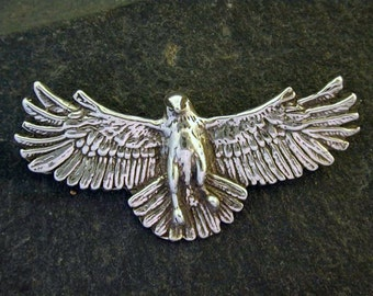 Sterling Silver Hawk Brooch