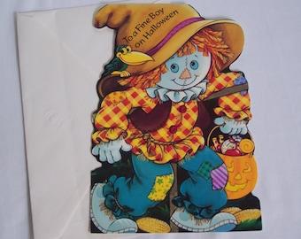 Sweet Unused Vintage Halloween Greeting Card Juvenile for Boy