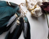 Feather Ear Cuff, Tribal Style, Ear Cuff, Feather Jewelry, Belly Dance Accessory, Feather Headdress