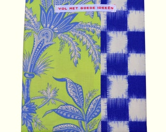 Notebook Fresh Lime and ikat block