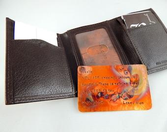 Wallet Insert Copper Card, Personalized Hand Stamped Oxidized Metal, Gift Husband Boyfriend 7 Seven Year Anniversary, Boyfriend Gift