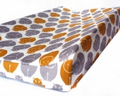 Changing pad cover SAFARI for contoured pad- brown gray change mat cover- gender neutral bedding- baby fitted slipcover- SAFARI changing