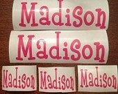 Custom personalized Monogram Decals.