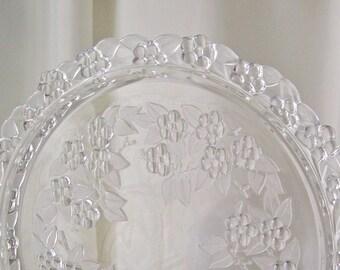 Vintage Cake Plate Leaded Crystal Wedding Cake Plate Vintage Wedding Vintage 1960s