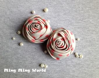 Handmade Rose Applique - 2 PCS Retro Style Roses(F4)
