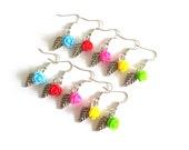 Rose Dangle Silver Earrings