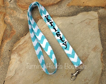 Lanyard ID Badge Holder / Personalized / Monogrammed / Teacher Appreciation Gift