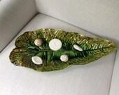 Ernst Wahliss Turn Wien Mojolica Leaf  Pottery Tray
