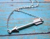 Silver Arrow . Necklace