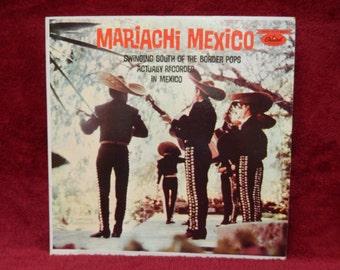 MARIACHI MEXICO - 1960s Vintage Vinyl Record Album