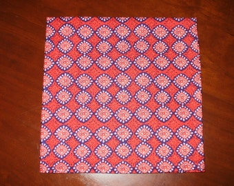 Dinner Napkins...Cotton Batik...17 inches...Stitched Hems NOT Serged...FREE SHIPPING