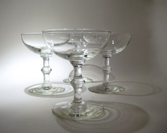4 Champagne Glasses - Coupes - Vintage