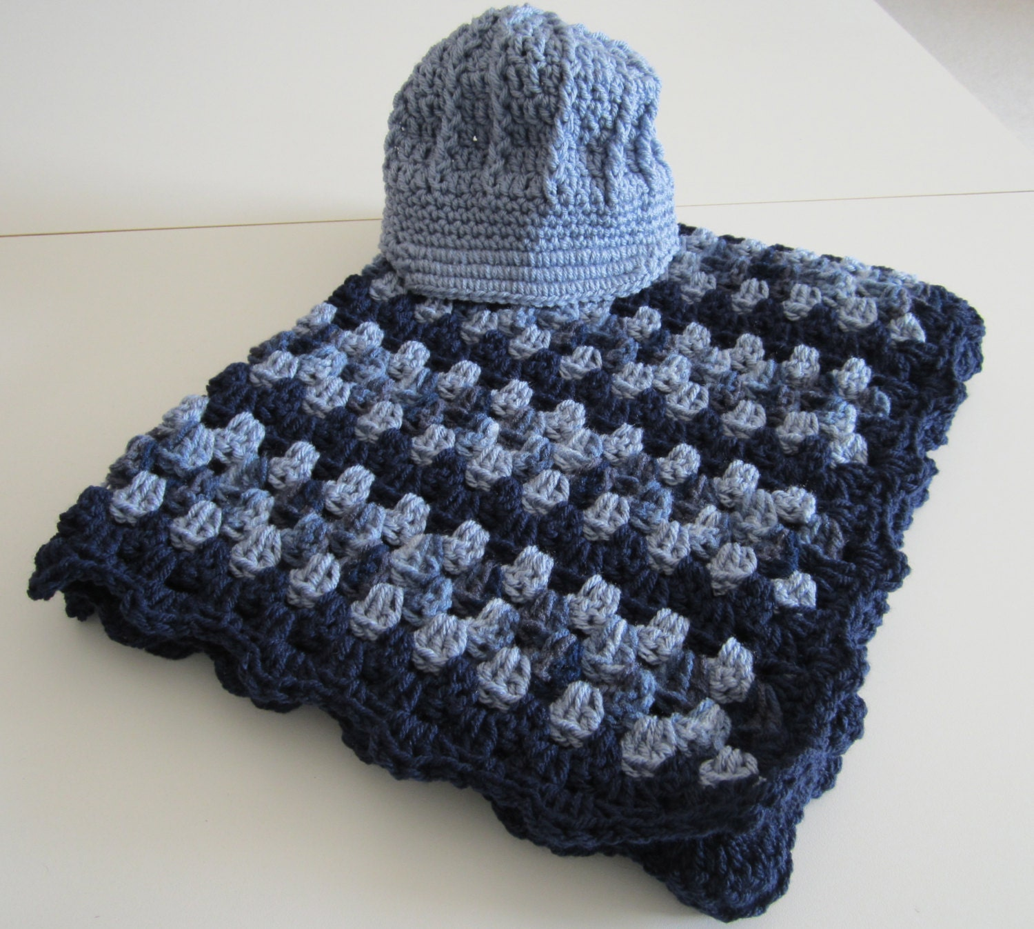 Baby Boy Crochet Baby Blanket Afghan Baby Shower Gift Set