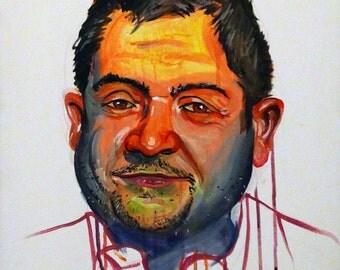 Patton Oswalt 16x20 painting