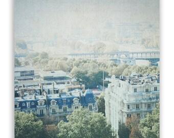 Paris Photography, French decor, Paris decor, dreamy Paris Wall Art, Paris city photo, Seine River photo, Paris roofs - Fine Art Photograph