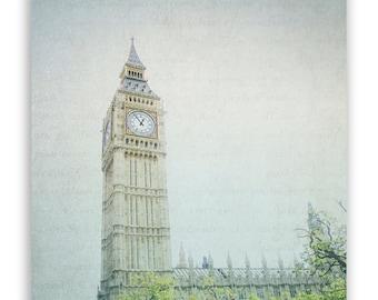 London Photography, Big Ben photos, British home decor, British Wall Art, aqua decor, British landmarks, architecture - Fine Art Photograph