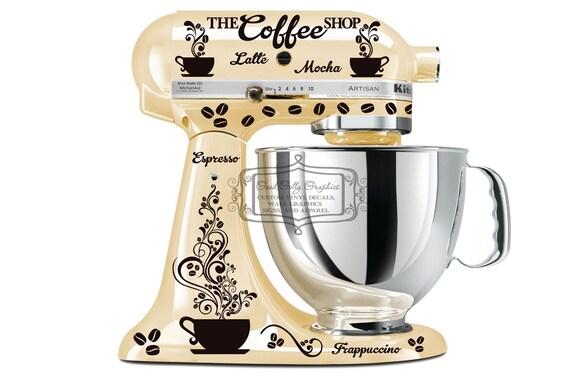 Kitchen Mixer Decals ~ Items similar to kitchen mixer decal set coffee theme on etsy