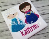 Ice Princess and Snow Queen Cuties Appliqued Shirt