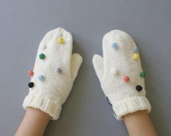 Confetti Handknit Mittens