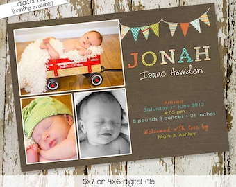 baby boy birth announcements photo lds mormon baptism christening sip and see baby blessing high tea bash (item 426) shabby chic invitations