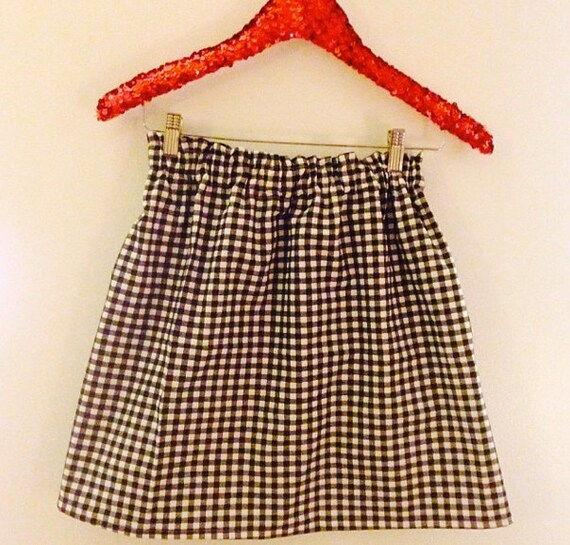 Black GIngham Skirt Spring 2014