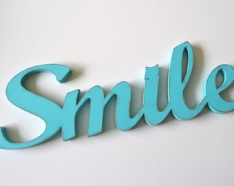 Smile - Wooden Words