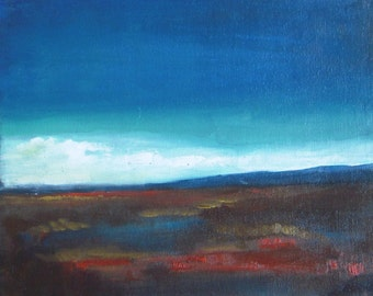 """Prairie After The Rain - Original Oil Painting - Abstract Landscape Painting - plein air - oil painting - canvas board 8""""x10"""""""