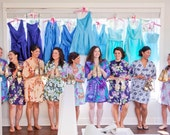 Six Bridesmaid Robes. Kimono. Bridesmaid Robes. Bridal Robes. Kimono Robe. Wedding. Choose Your Fabrics. Assorted Prints. Knee Length.