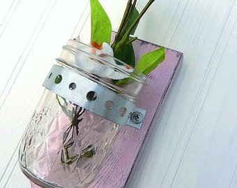 Wall Vase Shabby Chic, Country Cottage Baby Gift for her