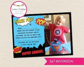 DIY, Superhero THANK YOU Card