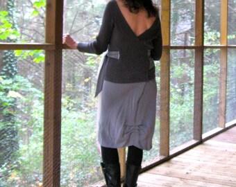 CUSTOM Sweater Dress, wraps around and ties at the waist