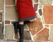 SALE Brown Tiered Ruffle Extender Slip