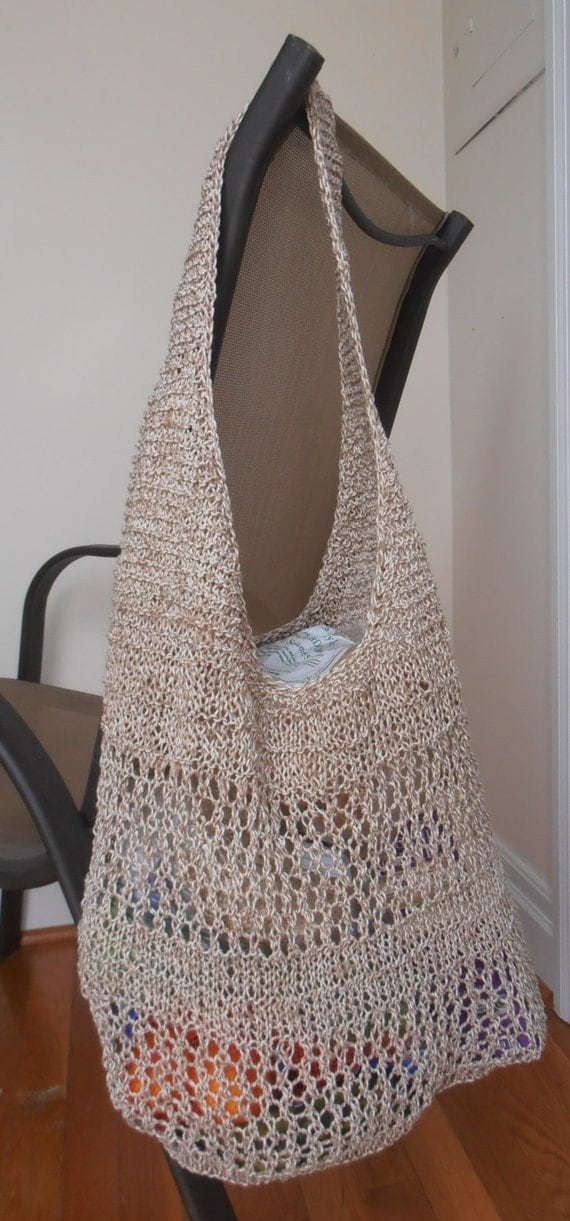 Knitting Pattern for a Market Bag as PDF file