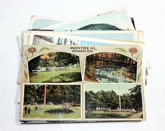 15 Vintage Montreal Canada Postcards Used