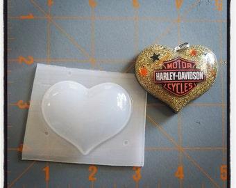 Smaller Bubble Heart Flexible Plastic Resin Mold