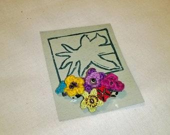 Flower barrette