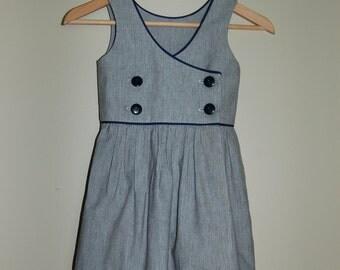 Nautical Dress - Girls Sizes: 18 months - 6