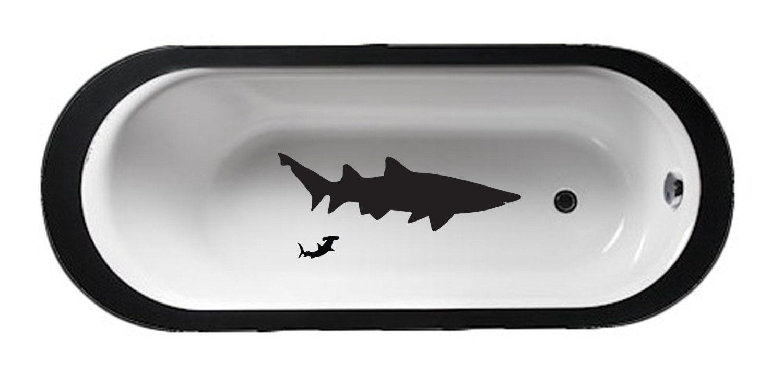 Bathtub Sharks Bathroom Décor Tub Decal Shower Wet Mirror