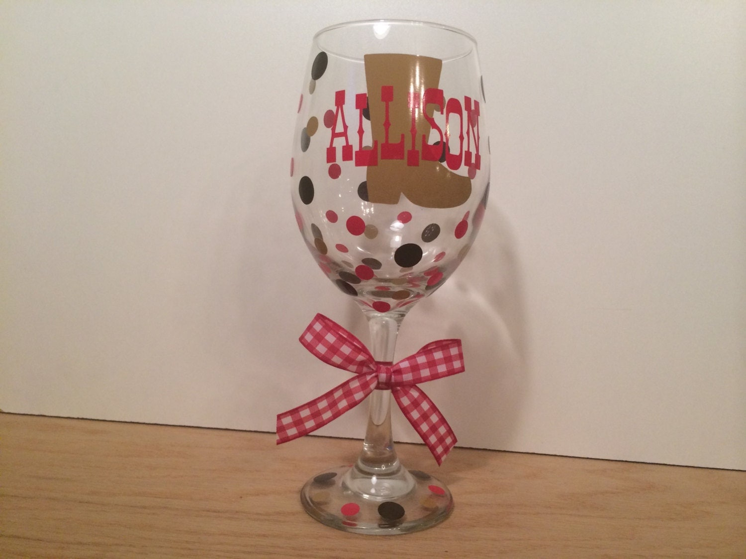 Western Themed Personalized Wine Glass Extra Large 20 Oz