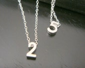 Tiny Number Necklace, Date Necklace, Lucky Number Necklace, Bridal Bridesmaids