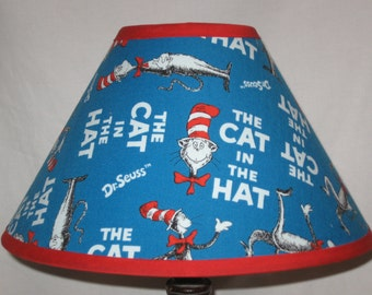 Dr. Seuss Cat In The Hat Fabric Children's Lamp Shade