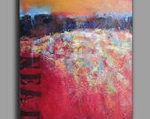 New Earth-Original abstract acrylic landscape on canvas