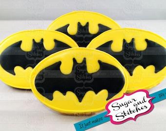Bat Symbol Cookie - Various Sizes Available - BASIC (1-2)
