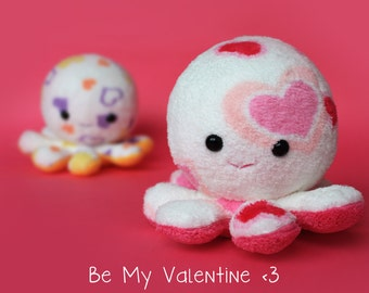 Valentine's day octopus plush toy