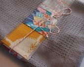 Patchwork Embellished Cotton Tea Towel