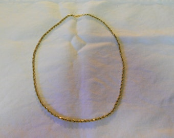 14kt Gold Solid Diamond Cut Rope Chain Barrel Clasp 19 inches 14.7Grams