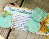 Four Goddess Prosperity Natural Blend Soy Tea Lights - 9  for Spellcasting, Magick, Meditation and Ritual
